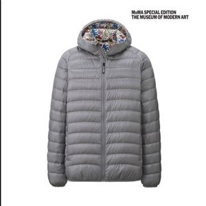 SPRZNY Keith Haring Down Coat by Uniqlo.